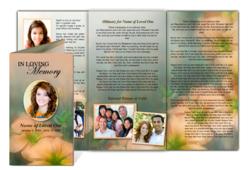 tri fold obituary template