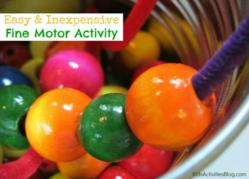 fine motor skills activitiy