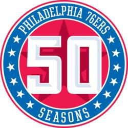 Philadelphia 76ers 50 Seasons Logo