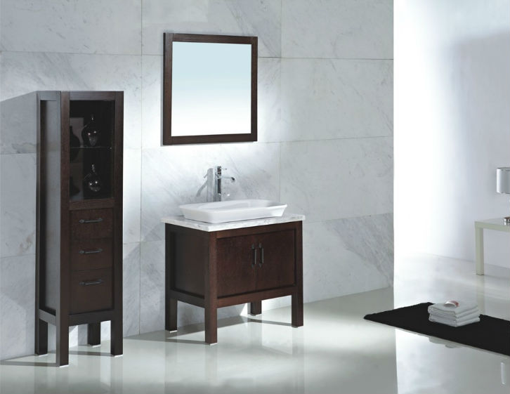 Modern bathroom vanities cheap simple purple modern for Affordable bathroom sets