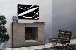 contemporary stone fireplace mantels- Blaze mantel