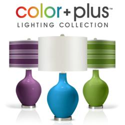 Color + Plus Colored Glass Table Lamps