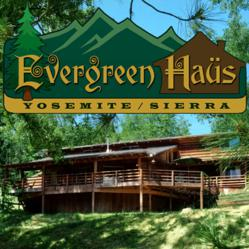 The Evergreen Haus is a cabin lodge near Yosemite national park in Oakhurst, CA.