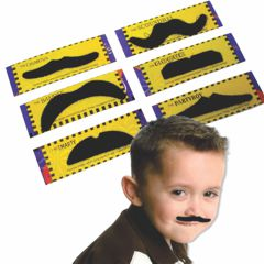 Stick on Moustaches from Windy City Novelties