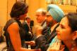 Michelle Obama receiving thanks from Dr. Rajwant Singh after the Wisconsin tragedy