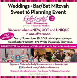 Party planning ideas can be found at Celebrate! Party Showcase on November 18th