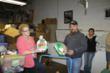 Photos from last year's turkey donation.