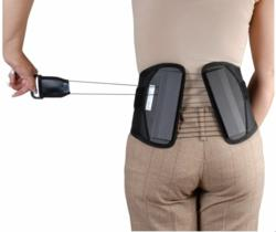 Cybertech Medical's popular SPINE back brace with patented mechanical advantage pulley system