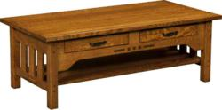 Wood inlays accent the Boulder Creek Coffee Table.