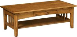 A classic design marks the Pilgrim Coffee Table.