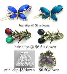 Barrettes, hair clips, and jaw clips at competitive pricing