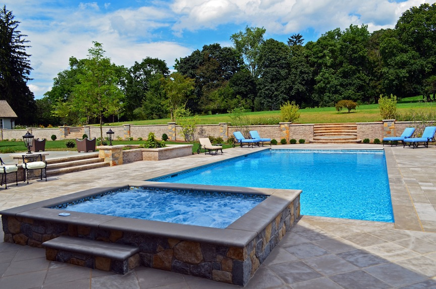 The Formal Design Distinguished Itself From Other NJ Inground Pools Entered  In The Awards. Materials, Precision, And Overall Appearance Earned This Pool  A ...