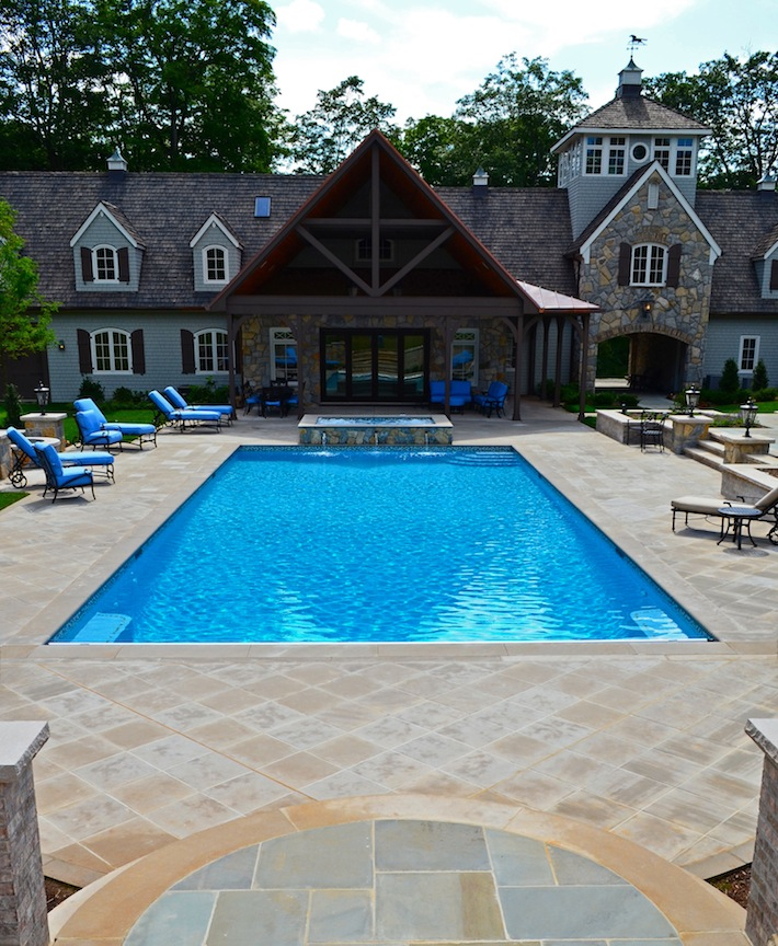 Far hills nj inground swimming pool awarded for design for Inground swimming pool designs