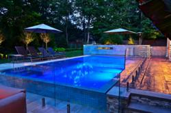 Perimeter Overflow Glass Tile Pool NJ