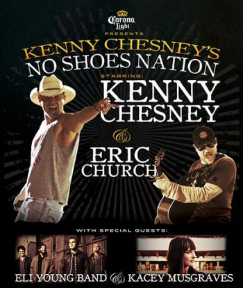 "Kenny Chesney ""No Shoes"" 2013 Concert Tour Schedule Tickets, Sandbar & Fan Packages"