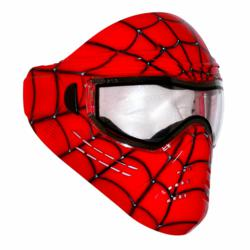 save phace custom paintball goggles-spidey red, thermal paintball goggles