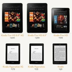 Amazon Kindle Christmas Deals 2012