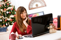 Woman Christmas Shopping at TheBeautyPlace.com