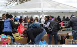 Coney Island, Brooklyn residents receive aid after Hurricane Sandy