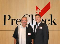 PreCheck's Chief Executive Officer, Glenn Woolsey, and Chief Operating Officer, Zach Daigle, welcome clients to the background screening firm's headquarters.