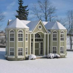 Amish Made Grand Portico Mansion Playhouse Kit
