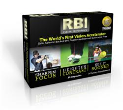 R.B.I. Vision Performance is a nutritional supplement that provides exceptional visual benefits for maximum athletic performance.