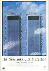 Dave Cutler poster for 1994 NYC Marathon sponsored by Mercedes Benz