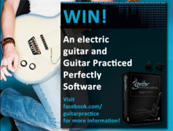 Win an electric guitar and the Guitar Practiced Perfectly Software