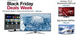 Black Friday HDTV Deals 2012 & Cyber Monday HDTV Sales 2012