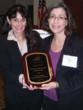 Cheryl Marks Young, CFO, Easter Seals NJ is presented with award for Leadership in Fiscal Advocacy by the New Jersey Association of Mental Health and Addiction Agencies (NJAMHAA)