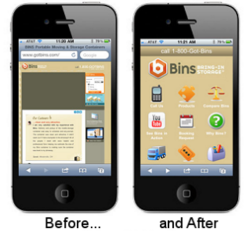 Mobile; before and after