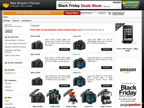 Black Friday Camera Deals and Cyber Monday Camera Deals 2012 Are ...
