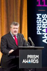 Michael Mertin, President and CEO of Jenoptik AG, (above, at the 2011 Prism Awards for Photonics Innovation) has been elected president of Photonics21.