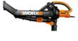 WORX TRIVAC with 2-stage impeller system is ideal for yard cleanup.