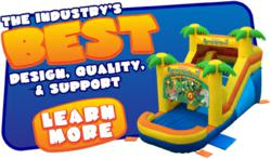 Blast Zone commercial inflatables are affordable, high quality, and generate some of the highest ROI in the amusement industry.