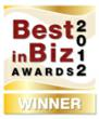 Best in Biz Awards 2012 gold logo