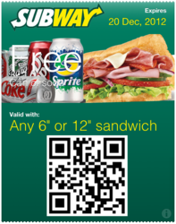 Subway Passbook Coupon Image