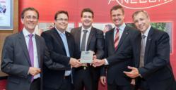 Hans Schmit, CEO ANECON, Thomas Bucsics, Martin Schweinberger, Manfred Baumgartner (ANECON) with Wolfgang Platz (founder and CEO TRICENTIS)