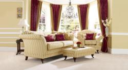 Reupholstery in Mayfair Stripe and Floral by Plumbs