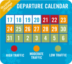 Holiday Travel Calendar 2012