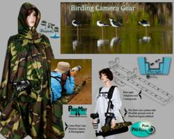 Composite image of camera gear for birding abd nature photographers.