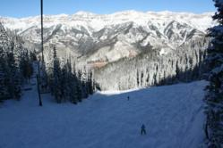 Skiing down Lift #9 at the Telluride Ski Resort