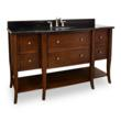 Hardware Resources VAN080-60-T - Philadelphia Classic Bathroom Vanity With Preassembled Top And Bowl From Lyn Design.