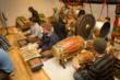 SFUAD students rehearse with the gamelan instrument. Photo by Eric Swanson.