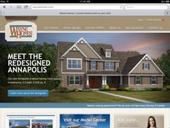 Ohio custom home builder Wayne Homes launches responsive website.