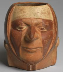 Moche vessel in the shape of a male head