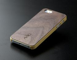 AViiQ Thin Series Wood iPhone 5 Cases - Yellow Dark Walnut Wood