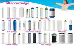 variety of water filter cartridges