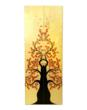 Wooden Tree Growth Chart pair for siblings.