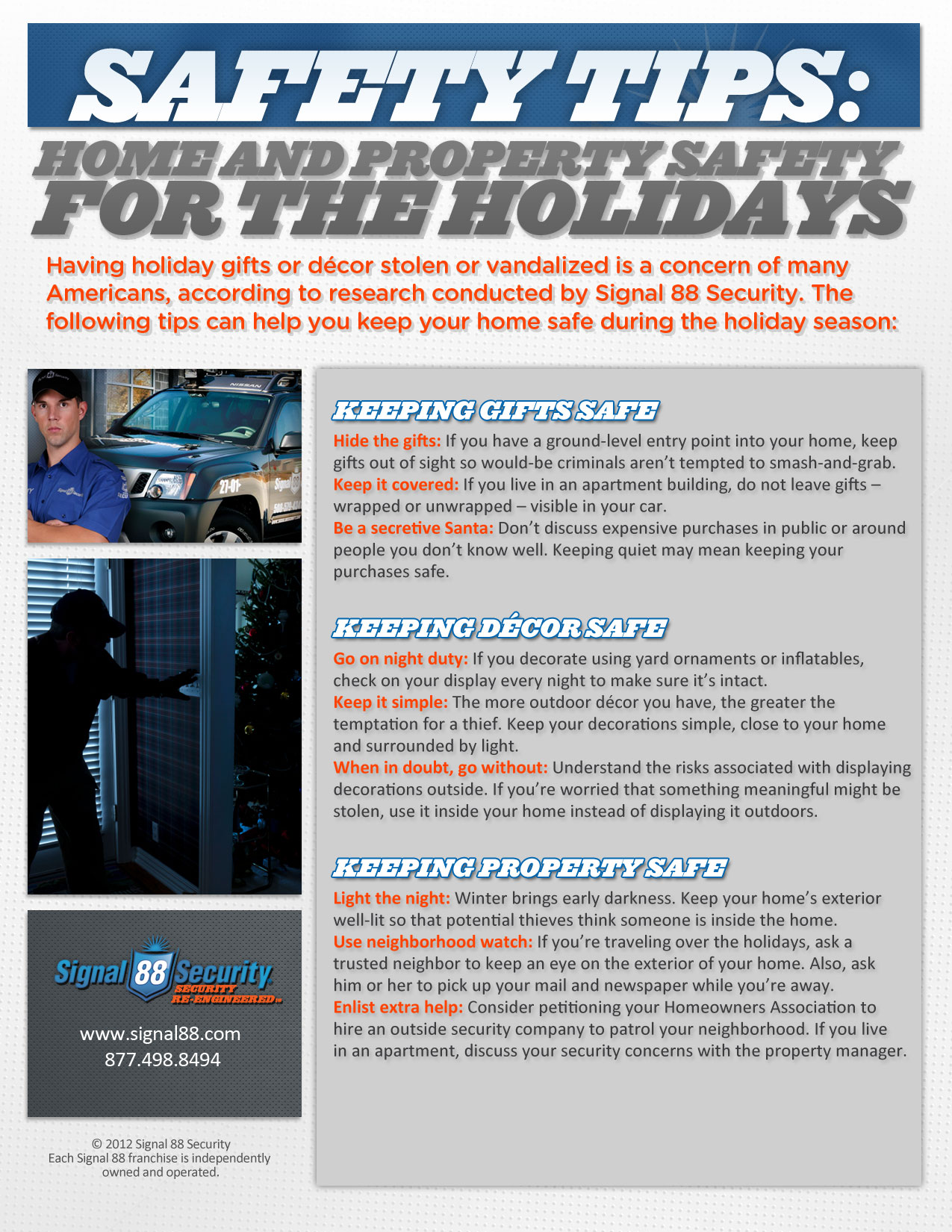 Home And Property Safety During The Holiday SeasonTips On How To Protect Your Decor Gifts Personal Holidays